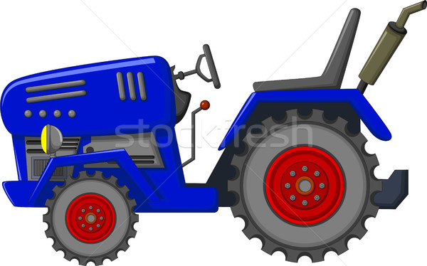 blue tractor cartoon for you design Stock photo © jawa123