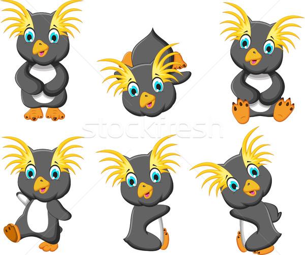 king penguins cartoon set character Stock photo © jawa123
