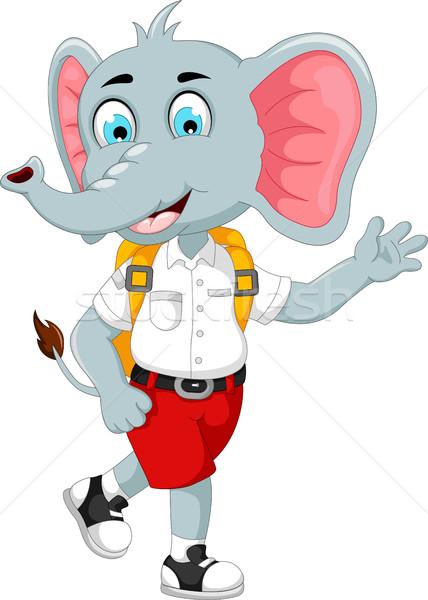 смешные мужчины слон Cartoon школы улыбка Сток-фото © jawa123