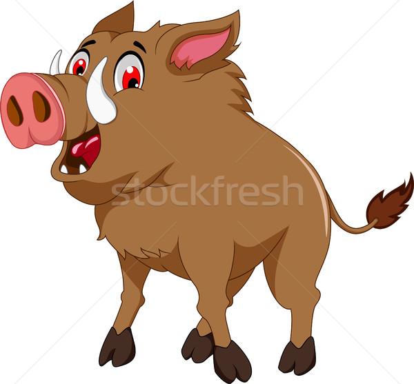 wild boar cartoon for you design Stock photo © jawa123