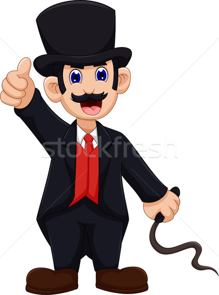 cute Ringmaster cartoon thumb up Stock photo © jawa123
