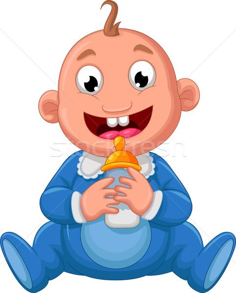baby cartoon posing for you design Stock photo © jawa123