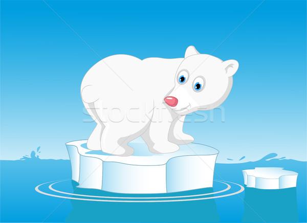 Cute ijsbeer sneeuw baby liefde beer Stockfoto © jawa123