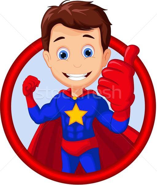 superhero cartoon in frame Stock photo © jawa123