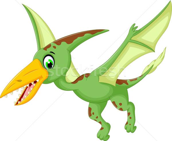 funny pterodactyl cartoon flying Stock photo © jawa123