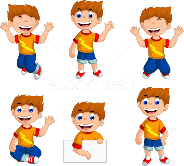 expression of boy cartoon collection Stock photo © jawa123