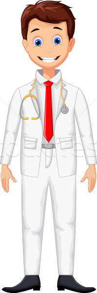 cute young professional doctor cartoon Stock photo © jawa123