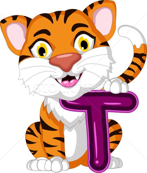 Cute tiger cartoon Stock photo © jawa123