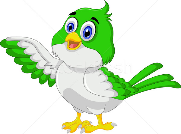 Cute bird cartoon posing Stock photo © jawa123