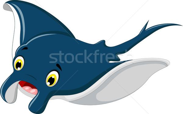 Aranyos rája rajz mosolyog vízalatti Stock fotó © jawa123