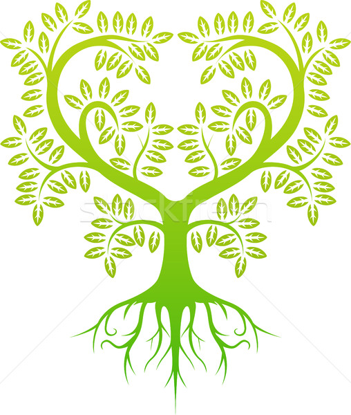 green tree silhouette Stock photo © jawa123
