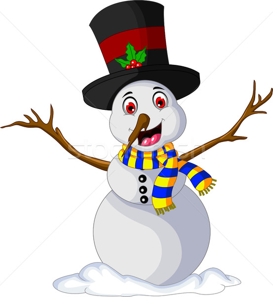 Funny Xmas Snowman for you design Stock photo © jawa123