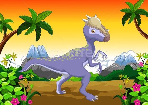 Dinosaur Stegosaurus cartoon for your design Stock photo © jawa123