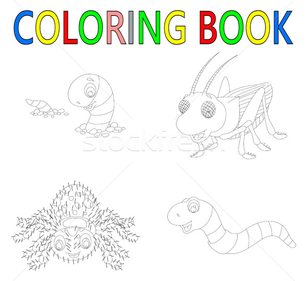 coloring book with insect collection Stock photo © jawa123