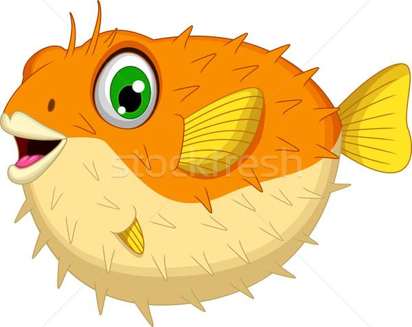 Cute Schlag Fisch Karikatur Natur Meer Stock foto © jawa123