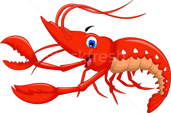 Stock photo: shrimp cartoon for you design