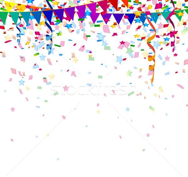 colorful confetti on white background Stock photo © jawa123