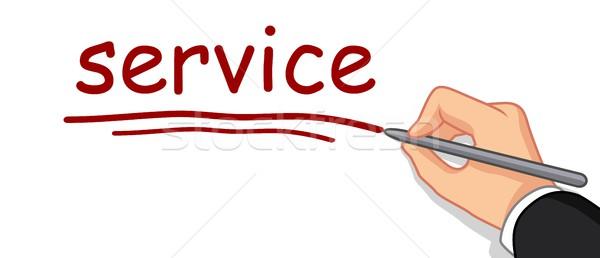 hand writing service word Stock photo © jawa123