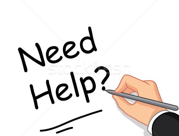 Männlich Hand schriftlich müssen helfen Design Stock foto © jawa123