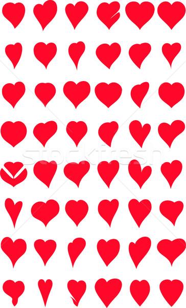 сердцах коллекция дизайна свадьба любви красоту Сток-фото © jawa123