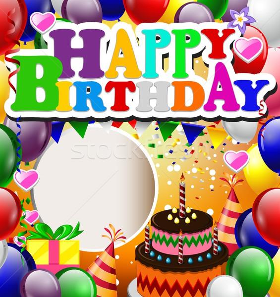 birthday with balloon background Stock photo © jawa123