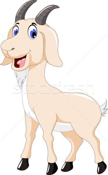 Drăguţ capră desen animat proiect zâmbet natură Imagine de stoc © jawa123