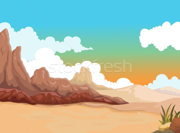 beauty desert with landscape background Stock photo © jawa123