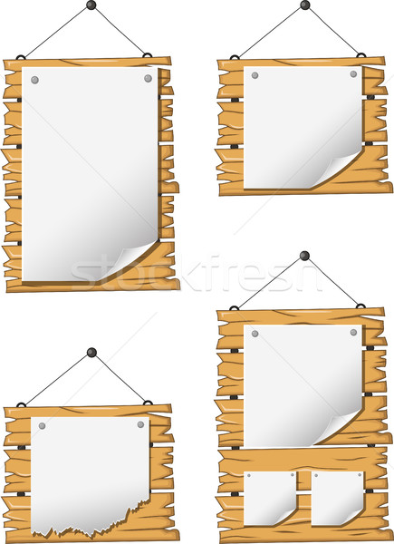 collection of wooden sign and signboard Stock photo © jawa123