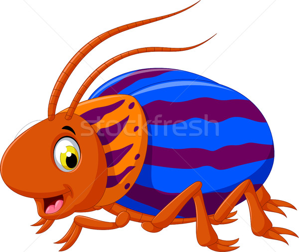 Aranyos bogár rajz pózol boldog vicces Stock fotó © jawa123