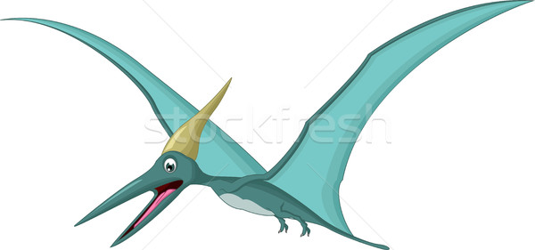 Happy pterodactyl cartoon Stock photo © jawa123