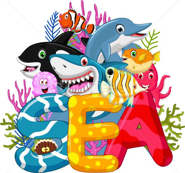 Sea life cartoon Stock photo © jawa123
