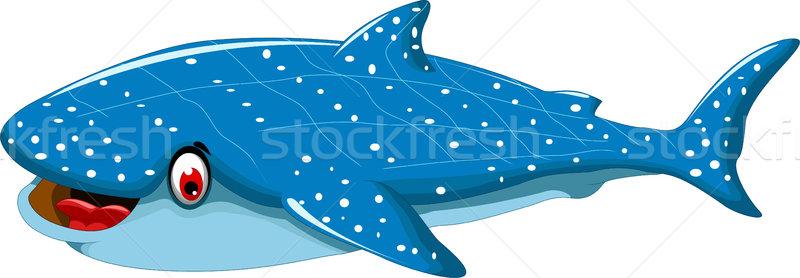 Engraçado tubarão desenho animado projeto peixe natureza Foto stock © jawa123