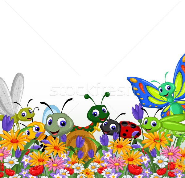 collection of insects in the flower garden Stock photo © jawa123