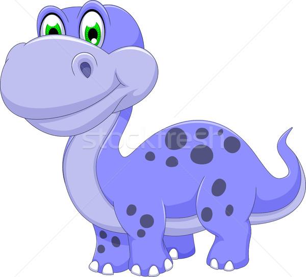 Cute динозавр Cartoon улыбаясь тело модель Сток-фото © jawa123
