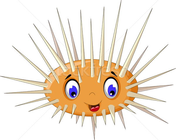 cute sea urchin smiling Stock photo © jawa123