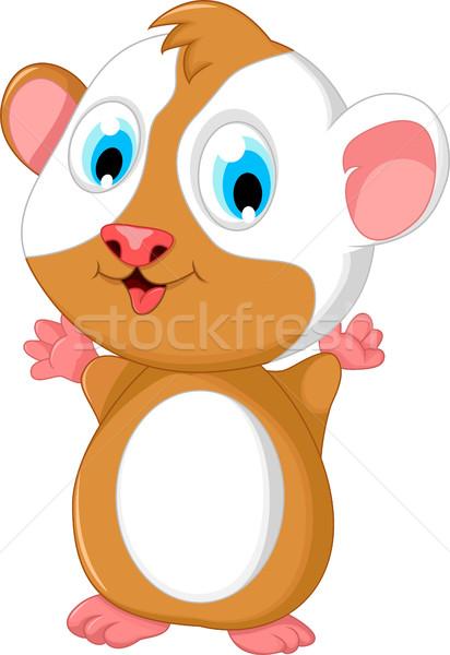 Mutlu yağ hamster karikatür poz doğa Stok fotoğraf © jawa123