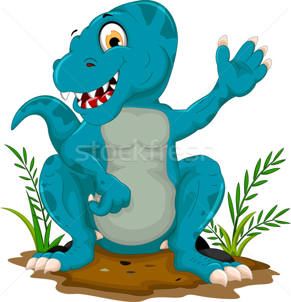 Stock photo: funny Tyrannosaurus cartoon posing