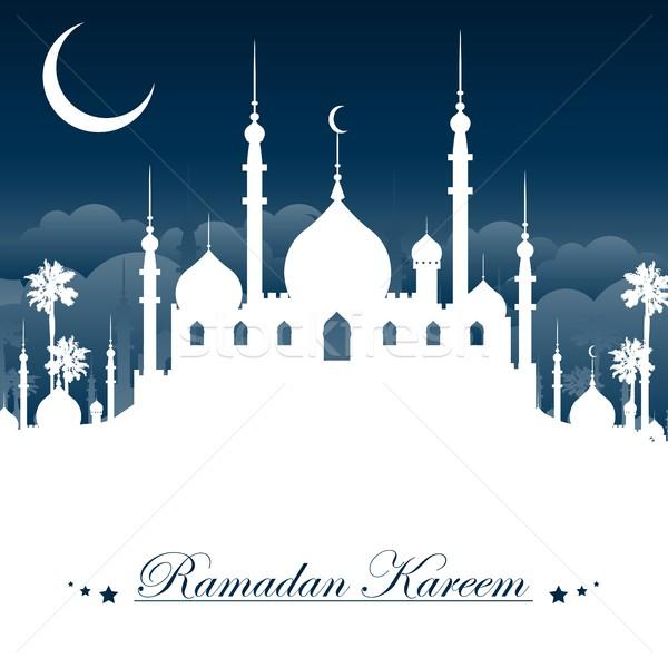 Ramadán imádkozik poszter vallás gyönyörű ünneplés Stock fotó © jawa123