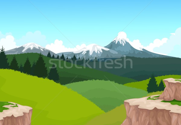 beauty hilly mountain with landscape background Stock photo © jawa123