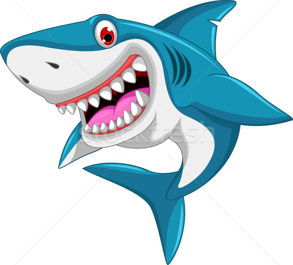 angry shark cartoon Stock photo © jawa123