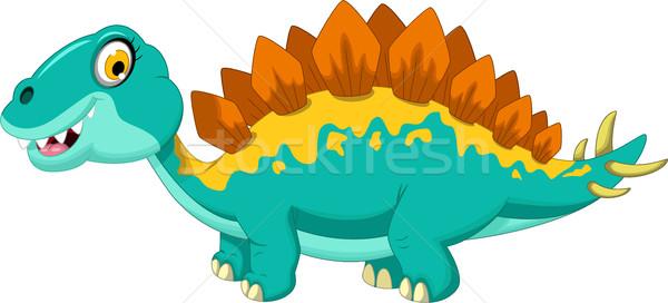 funny stegosaurus cartoon Stock photo © jawa123
