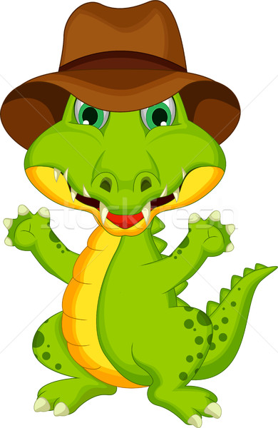 funny crocodile cartoon posing Stock photo © jawa123