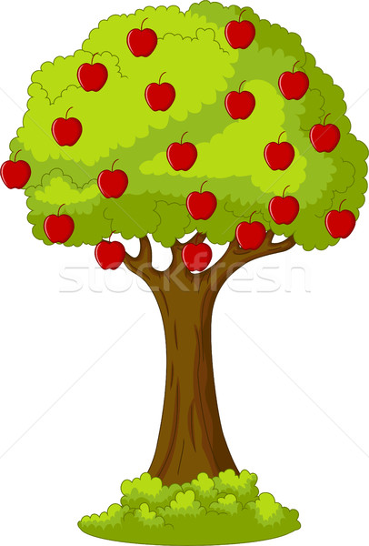 Green Apple tree full of red apples Stock photo © jawa123