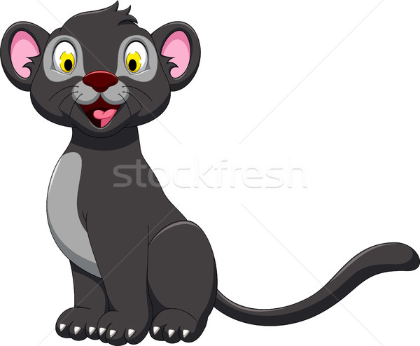 cute black panther posing Stock photo © jawa123