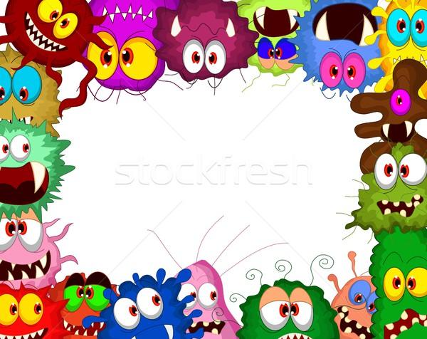 Cartoon bacteria for you design Stock photo © jawa123