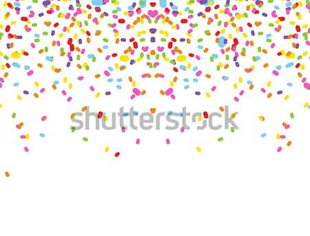 красочный конфетти белый бумаги вечеринка фон Сток-фото © jawa123