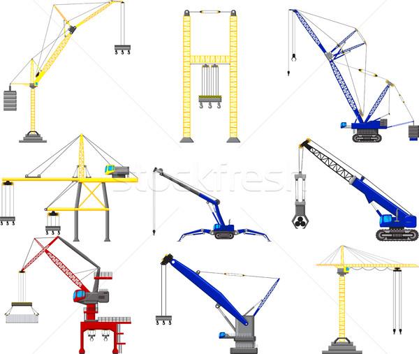 set of Construction crane Stock photo © jawa123
