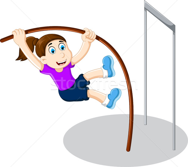 面白い 少女 漫画 演奏 高跳び バー ストックフォト © jawa123
