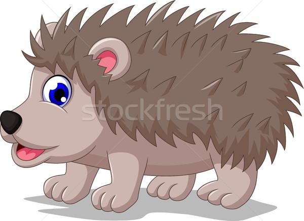 cute hedgehog cartoon posing Stock photo © jawa123