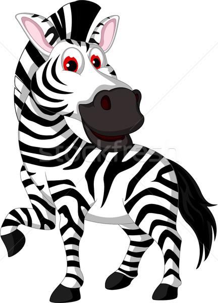 Vicces zebra rajz mosolyog terv jókedv Stock fotó © jawa123